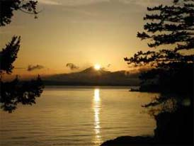 Sunrise on Orcas Island